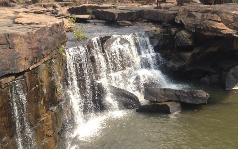 Водопад Tat Ton, сухой сезон
