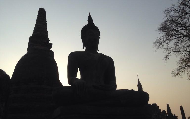 Будда закатный №3
