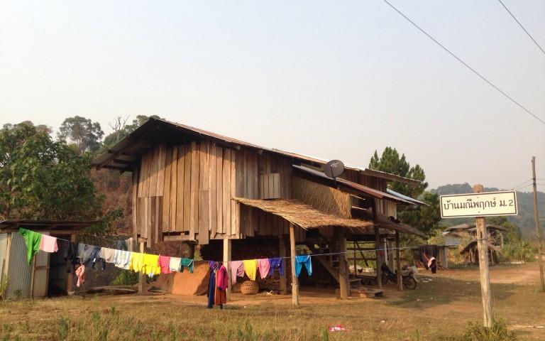 Деревня горной народности Лыэ (Thai Lue)