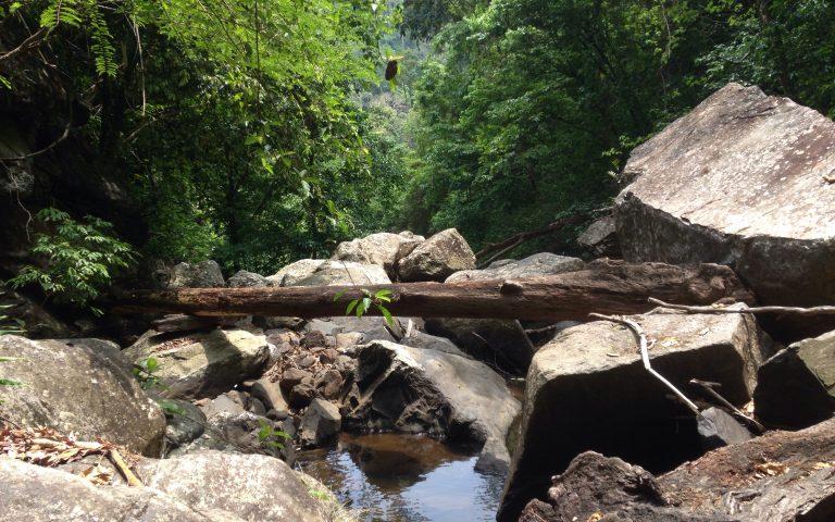 Дорога вдоль водопада Пала-У 6