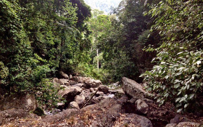 Дорога вдоль водопада Пала-У 9