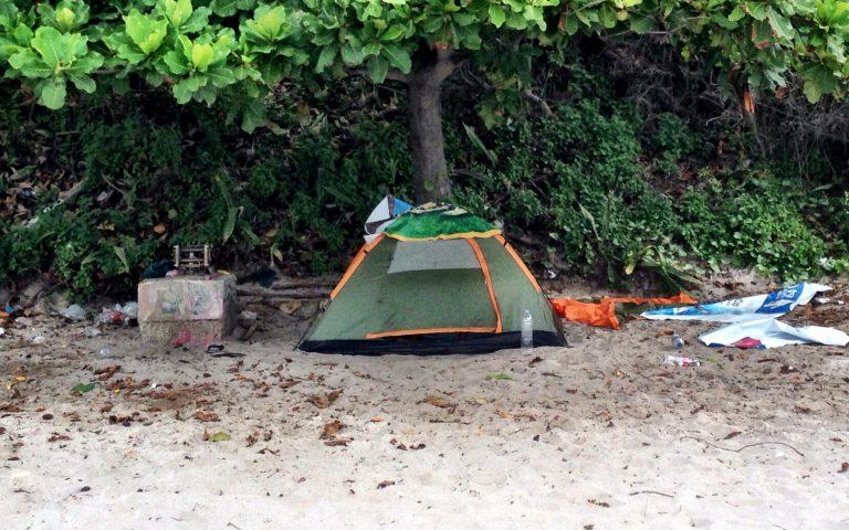 Романтично, в палатке…