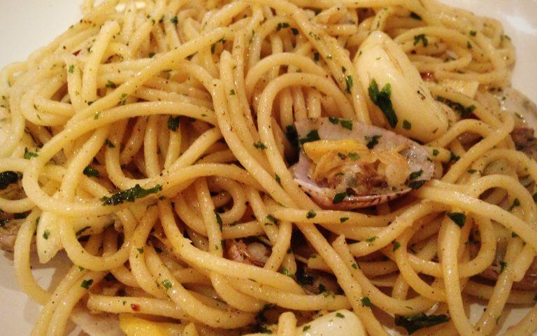 Спагетти с малюсками