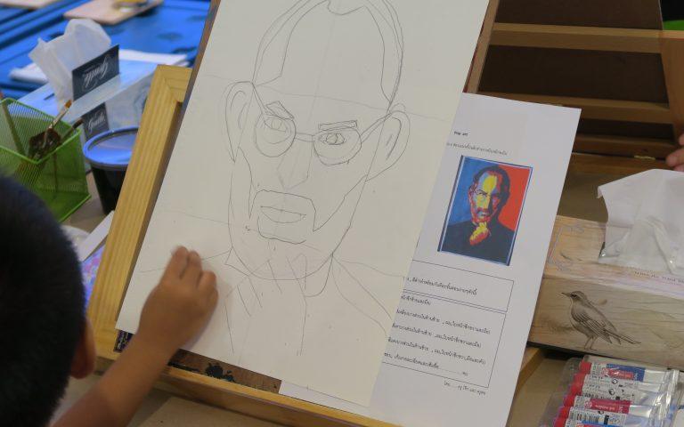 Тайские дети рисуют Джобса