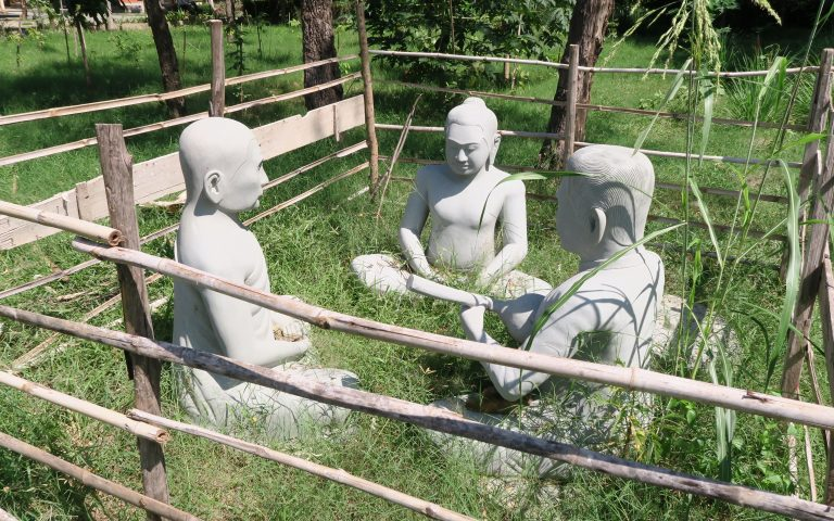 Скульптурная группа в загончике