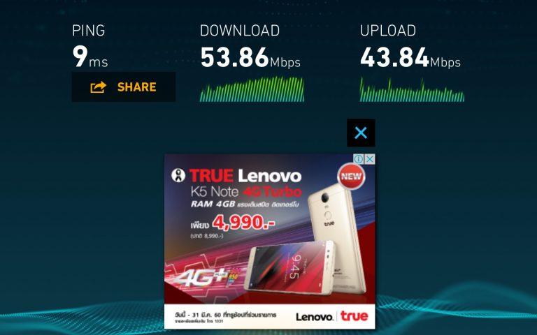 Скорость домашнего интернет в Таиланде