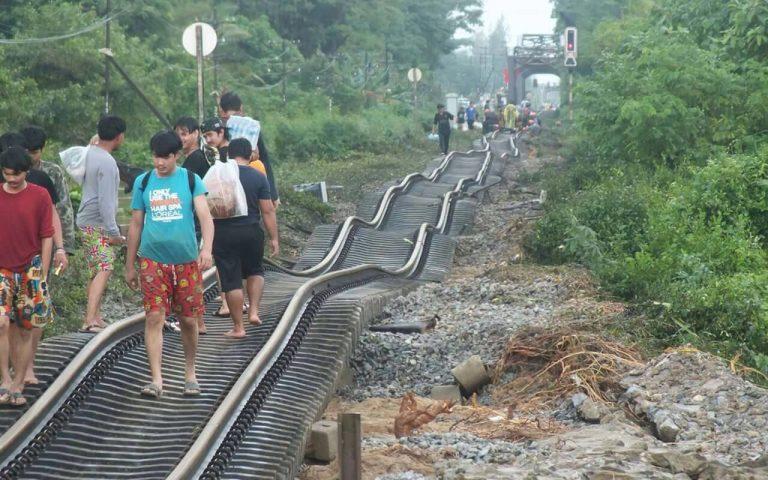 Железная дорога после наводнения