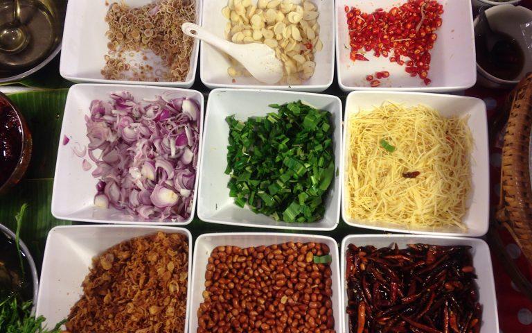 Набор ингридиентов для тайского салата