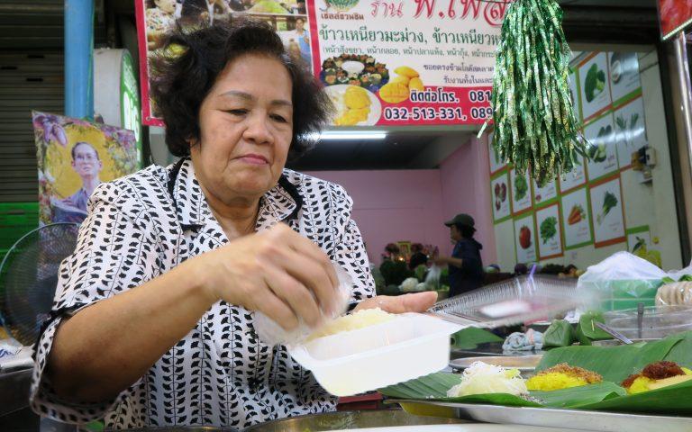 Лучший липкий рис с манго в городе Хуа Хин