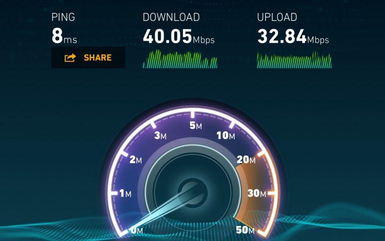 Скорость интернет в Хуа Хине, июнь 2017
