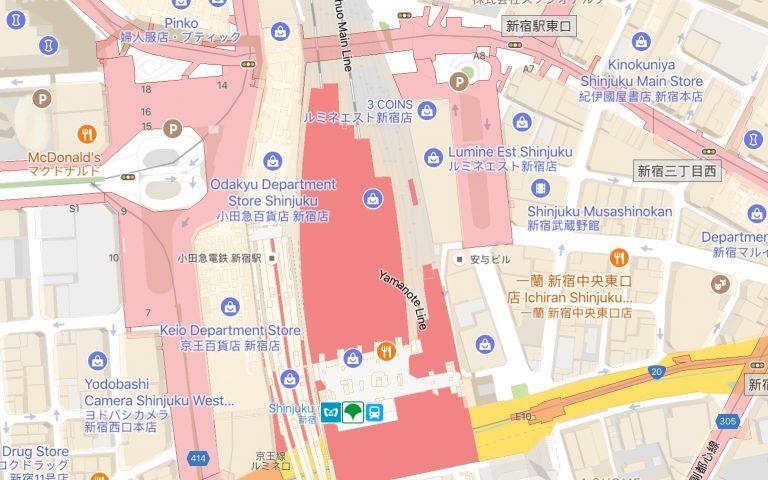 Google Maps и транспорт в Токио