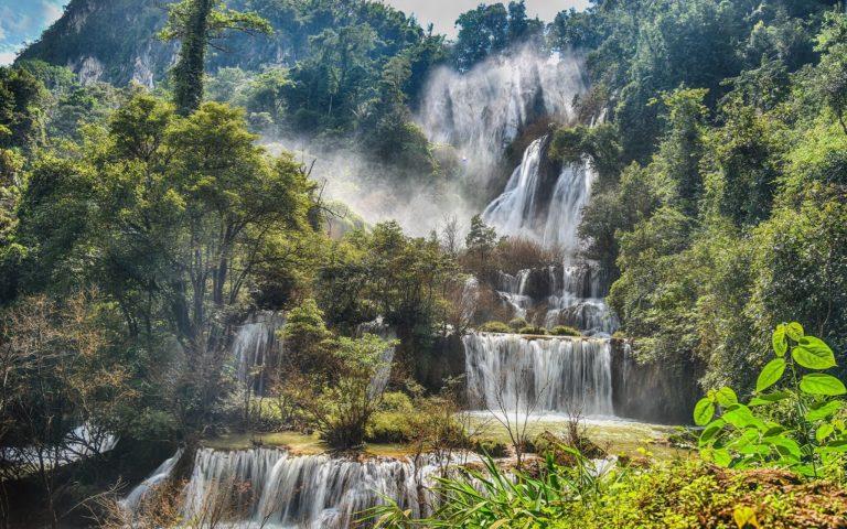 Водопад Thi Lo Su в Таиланде