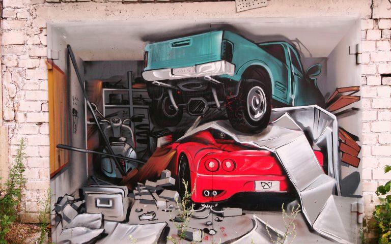 Самое годное граффити в Вильнюсе