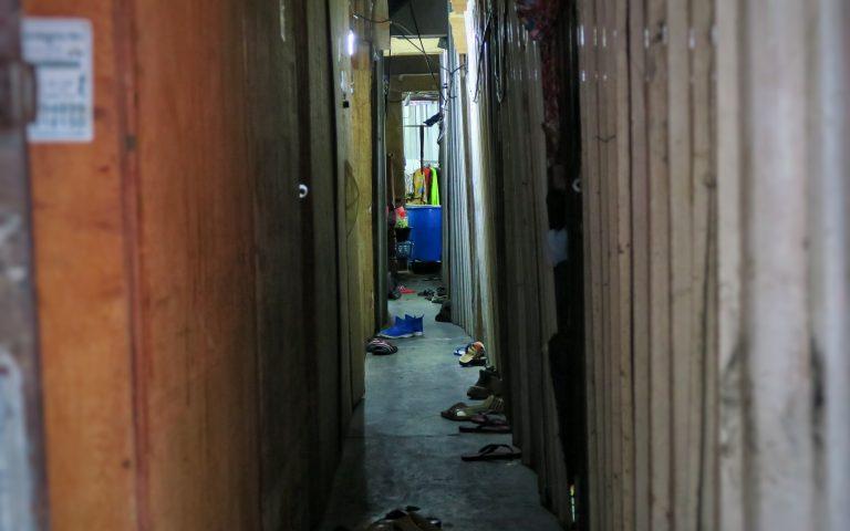 Жилищные условия строителей из Мьянмы