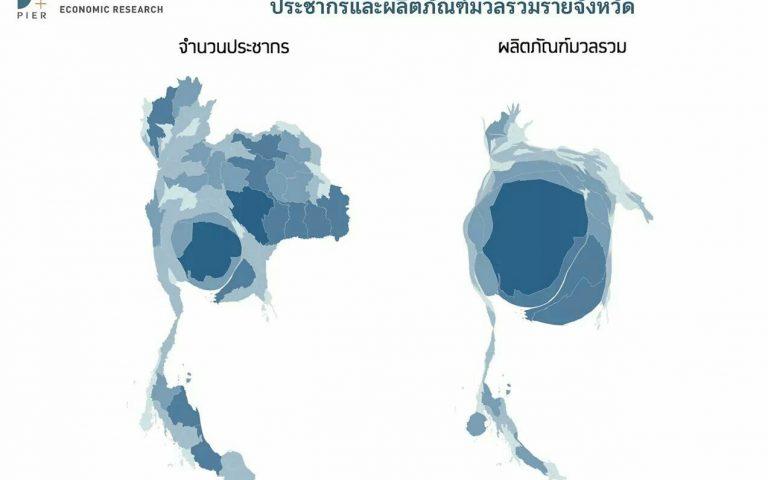 ВВП и плотность населения Таиланда