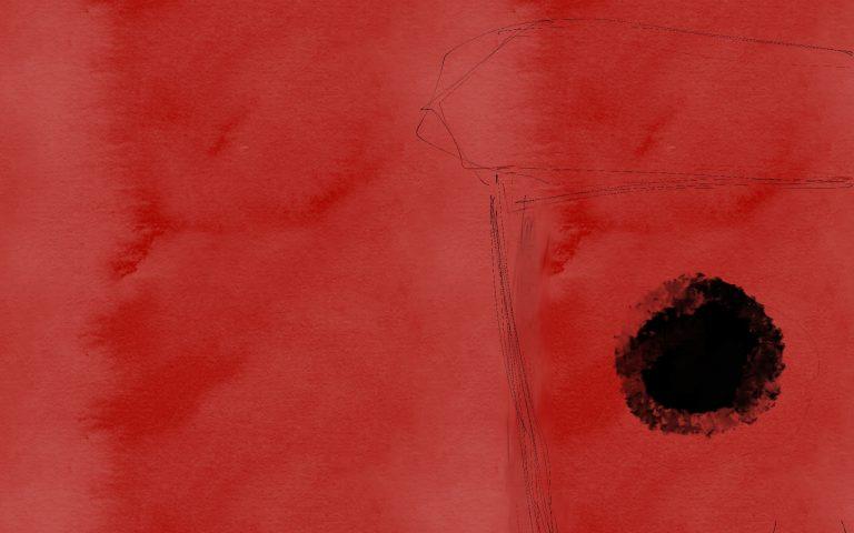 Пластиковый стаканчик на красном