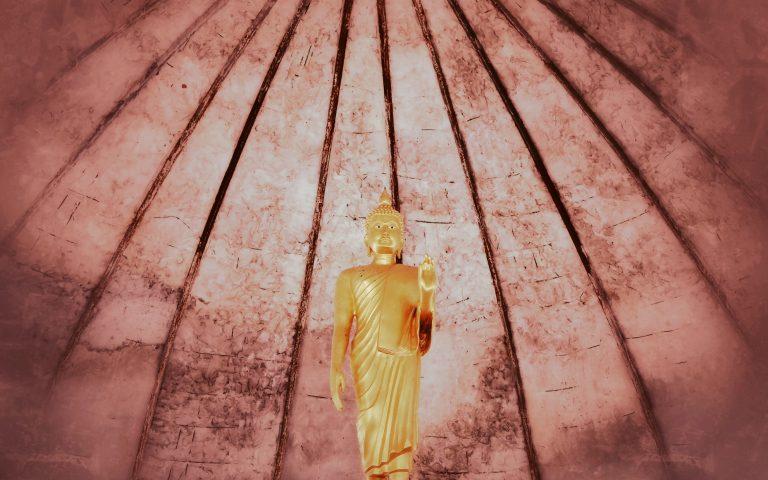 Будда под красным куполом