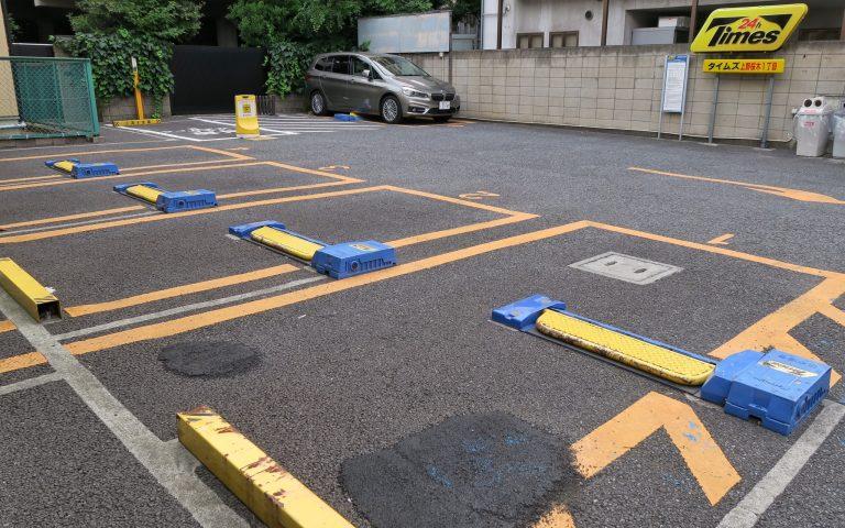 Рядовая платная стоянка в центре Токио