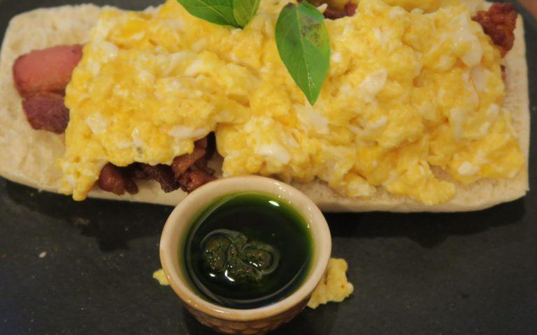 Какой же завтрак без зелёного вещества?!