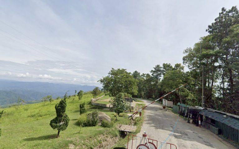 Пограничный пост вдоль дороги с Мьянмой